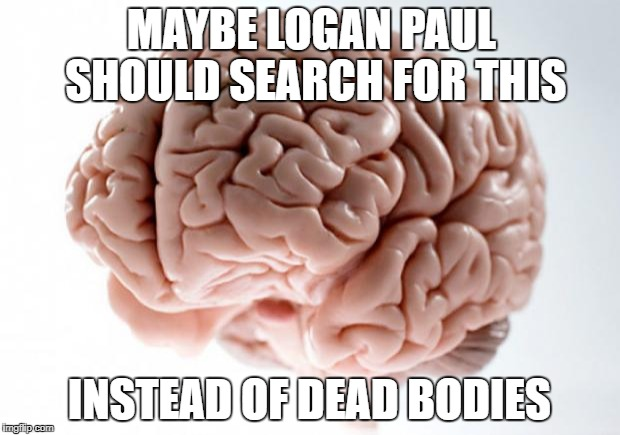 Scumbag Brain | MAYBE LOGAN PAUL SHOULD SEARCH FOR THIS INSTEAD OF DEAD BODIES | image tagged in scumbag brain | made w/ Imgflip meme maker