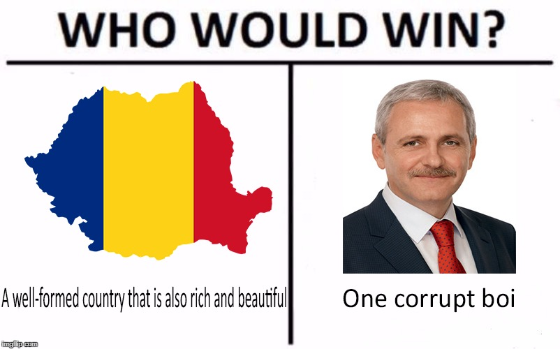 Who would win? | image tagged in romania,liviu dragnea,corrupt,corruption,lol,who would win | made w/ Imgflip meme maker