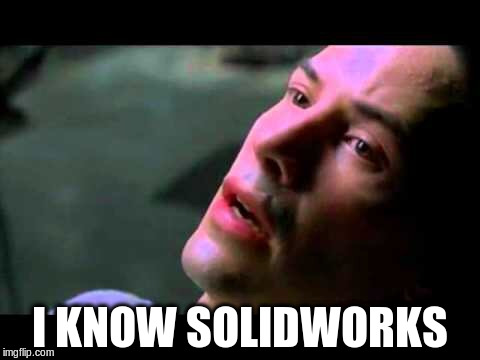 Neo kung fu | I KNOW SOLIDWORKS | image tagged in neo kung fu | made w/ Imgflip meme maker