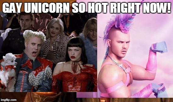 GAY UNICORN SO HOT RIGHT NOW! | made w/ Imgflip meme maker
