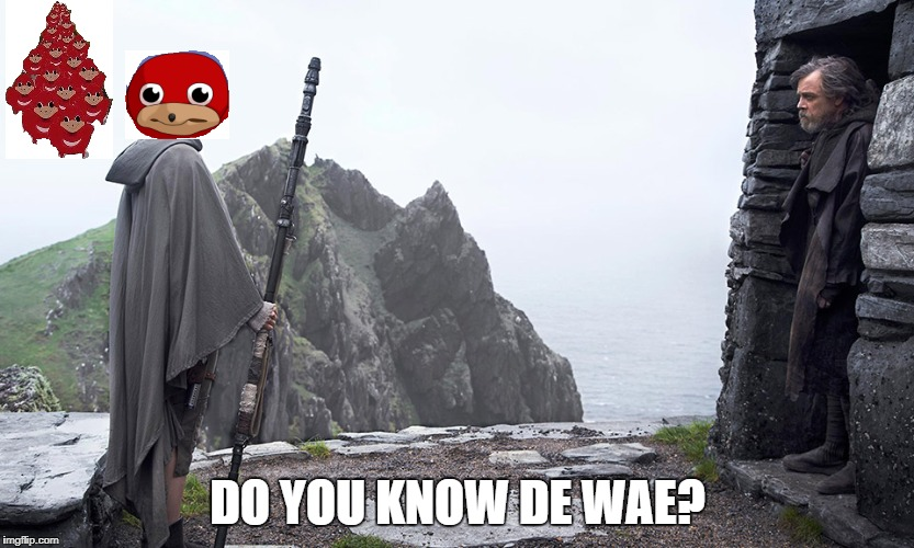 De Wae? | DO YOU KNOW DE WAE? | image tagged in star wars,vrchat,de wae,lol so funny,funny af | made w/ Imgflip meme maker