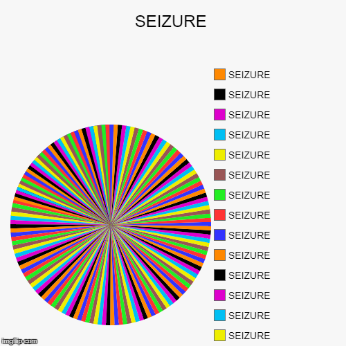 SEIZURE |, SEIZURE, SEIZURE, SEIZURE, SEIZURE, SEIZURE, SEIZURE, SEIZURE, SEIZURE, SEIZURE, SEIZURE, SEIZURE, SEIZURE, SEIZURE, SEIZURE | image tagged in funny,pie charts | made w/ Imgflip chart maker
