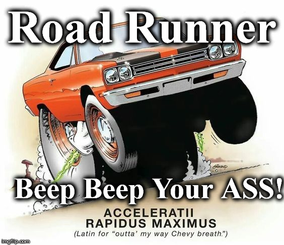 Road Runner Beep Beep Your ASS! | image tagged in road runner | made w/ Imgflip meme maker