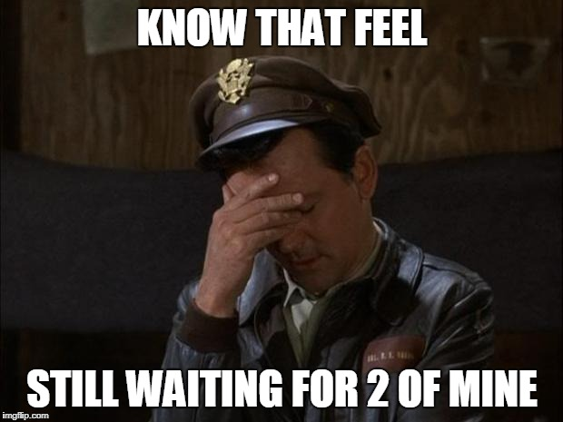 Facepalm Hogan | KNOW THAT FEEL STILL WAITING FOR 2 OF MINE | image tagged in facepalm hogan | made w/ Imgflip meme maker