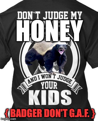 HONEY { BADGER DON'T G.A.F. } | made w/ Imgflip meme maker