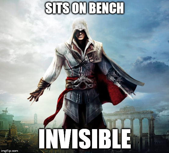 SITS ON BENCH INVISIBLE | made w/ Imgflip meme maker