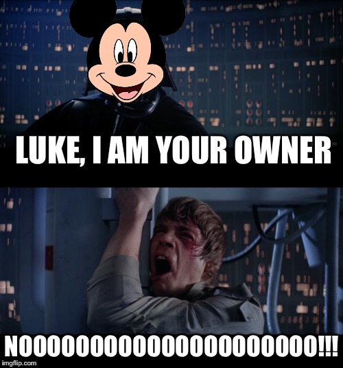 How I felt when Disney bought Star Wars. Geek Week, a JBmemegeek and KenJ event. Jan 7-13 | LUKE, I AM YOUR OWNER NOOOOOOOOOOOOOOOOOOOOO!!! | image tagged in memes,star wars no | made w/ Imgflip meme maker