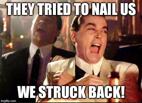THEY TRIED TO NAIL US WE STRUCK BACK! | image tagged in leafs | made w/ Imgflip meme maker