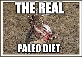 Eat up! | THE REAL PALEO DIET | image tagged in health,food,funny | made w/ Imgflip meme maker