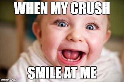 WHEN MY CRUSH SMILE AT ME | image tagged in disaster girl | made w/ Imgflip meme maker