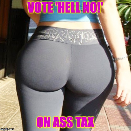 VOTE 'HELL NO!' ON ASS TAX | made w/ Imgflip meme maker