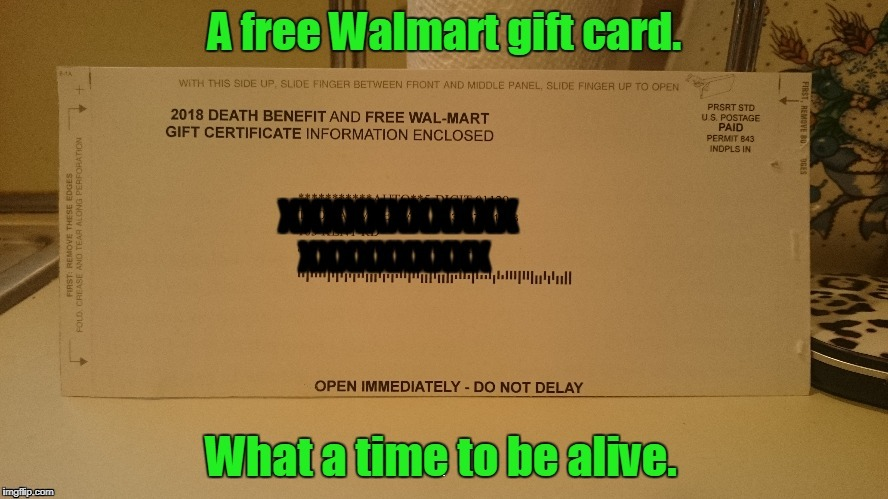 Got this from Social Security Administration yesterday. Will this be waiting for me either direction my soul goes? | . | image tagged in funny,mail,walmart,death | made w/ Imgflip meme maker