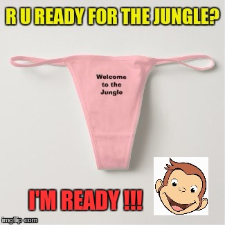 Ultimate Jungle | I'M READY !!! | image tagged in curious george | made w/ Imgflip meme maker