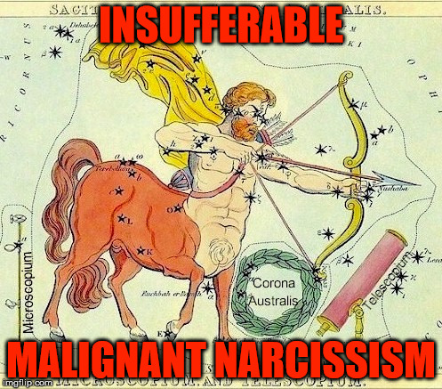 Capricorns and their conqueror mentality. | INSUFFERABLE MALIGNANT NARCISSISM | image tagged in astrology,conqueror,malignant narcissism,insufferable,tyrant,vanity | made w/ Imgflip meme maker