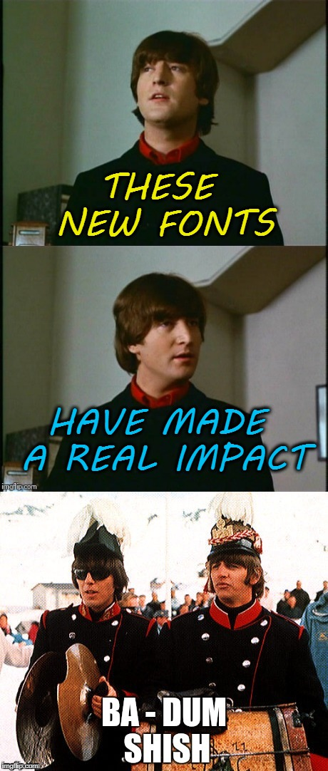 """Impact"" is the default font used here. 
