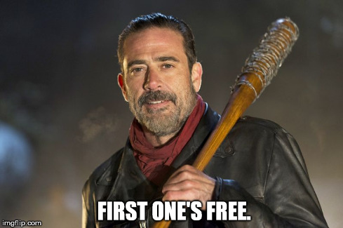Whenever I make a mistake. | image tagged in walking dead negan | made w/ Imgflip meme maker