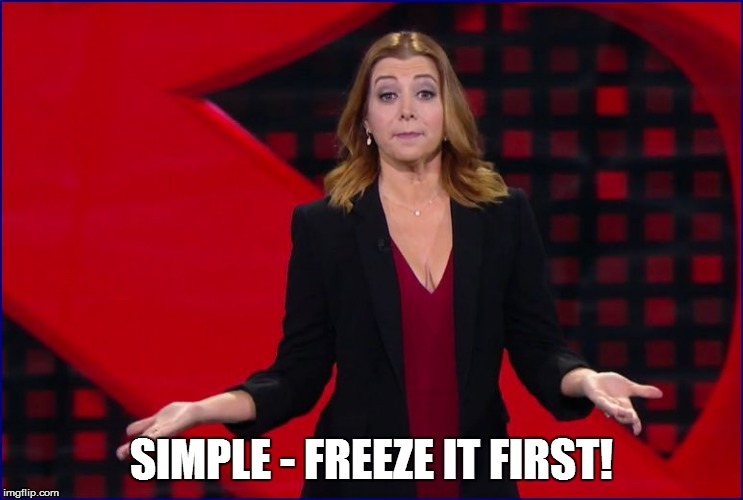 SIMPLE - FREEZE IT FIRST! | made w/ Imgflip meme maker