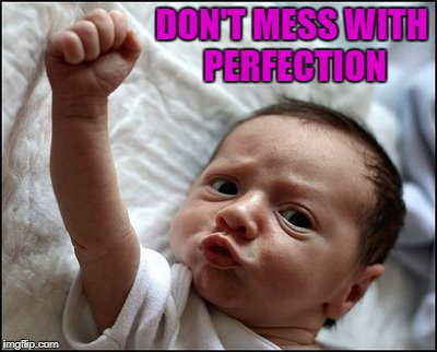 DON'T MESS WITH PERFECTION | made w/ Imgflip meme maker