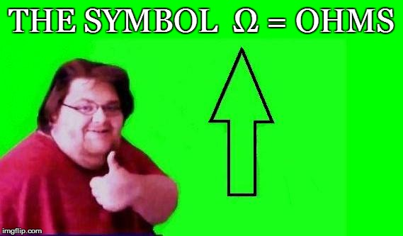 THE SYMBOL  Ω = OHMS | made w/ Imgflip meme maker
