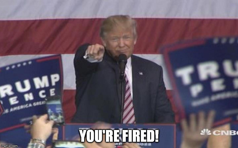 NoName | YOU'RE FIRED! | image tagged in noname | made w/ Imgflip meme maker