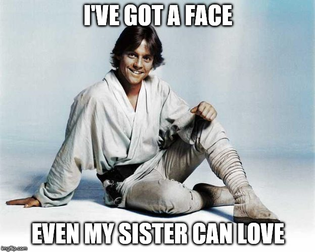I'VE GOT A FACE EVEN MY SISTER CAN LOVE | made w/ Imgflip meme maker