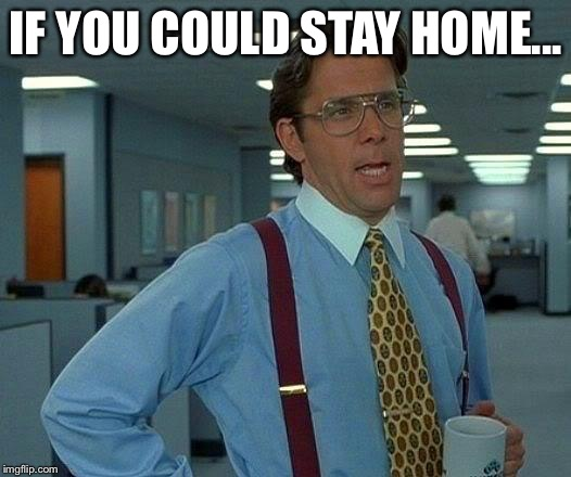 That Would Be Great Meme | IF YOU COULD STAY HOME... | image tagged in memes,that would be great | made w/ Imgflip meme maker