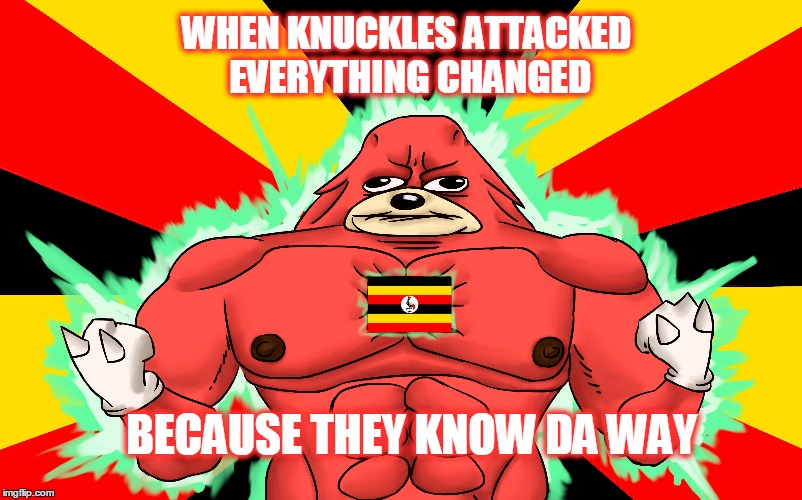 KNUCKLES ATAACKED DA WAY | BECAUSE THEY KNOW DA WAY WHEN KNUCKLES ATTACKED EVERYTHING CHANGED | image tagged in knuckles,memes | made w/ Imgflip meme maker