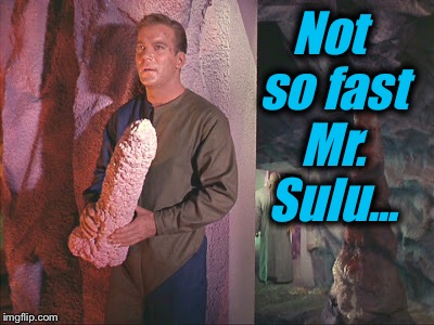 Not so fast Mr. Sulu... | made w/ Imgflip meme maker