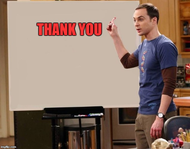 sheldon | THANK YOU | image tagged in sheldon | made w/ Imgflip meme maker