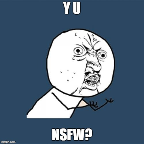 Y U No Meme | Y U NSFW? | image tagged in memes,y u no | made w/ Imgflip meme maker