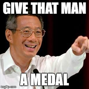 GIVE THAT MAN A MEDAL | made w/ Imgflip meme maker