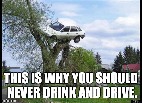 Secure Parking Meme | THIS IS WHY YOU SHOULD NEVER DRINK AND DRIVE. | image tagged in memes,secure parking | made w/ Imgflip meme maker