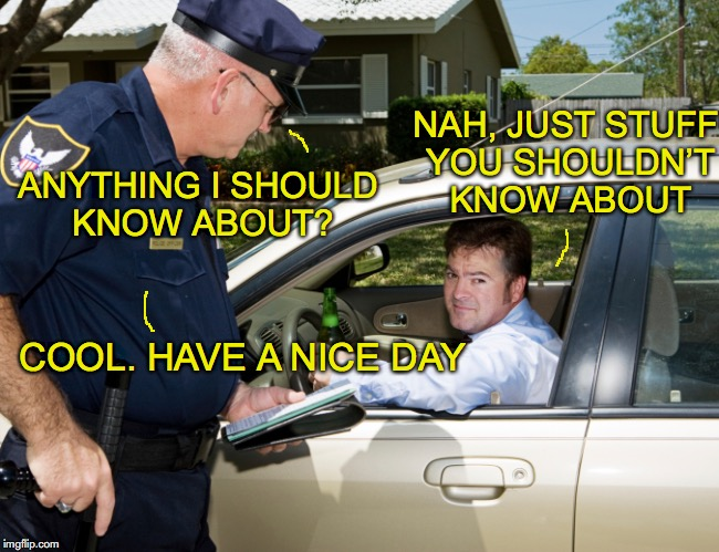 """What you don't know...."" 