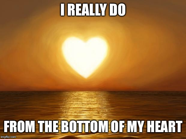 Love | I REALLY DO FROM THE BOTTOM OF MY HEART | image tagged in love | made w/ Imgflip meme maker