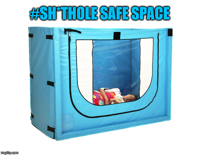 Escape Reality To A Sh*thole Safe Space | #SH*THOLE SAFE SPACE | image tagged in safe space,memes,truth hurts,special snowflake,donald trump,libtards | made w/ Imgflip meme maker