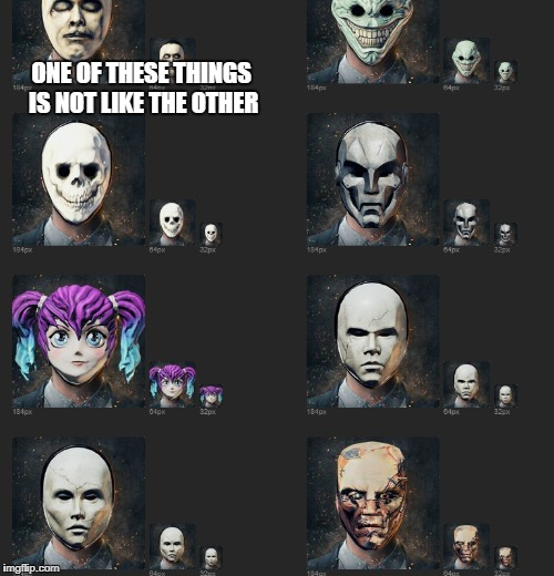ONE OF THESE THINGS IS NOT LIKE THE OTHER | image tagged in memes,payday 2 | made w/ Imgflip meme maker
