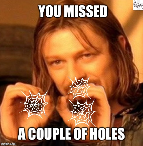 YOU MISSED A COUPLE OF HOLES | made w/ Imgflip meme maker