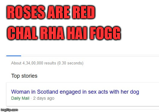 ROSES ARE RED CHAL RHA HAI FOGG | image tagged in fogg,doogy,sex | made w/ Imgflip meme maker