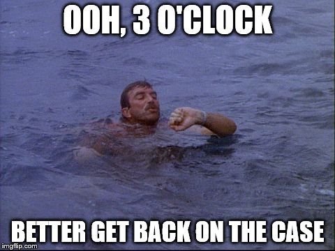 OOH, 3 O'CLOCK BETTER GET BACK ON THE CASE | made w/ Imgflip meme maker
