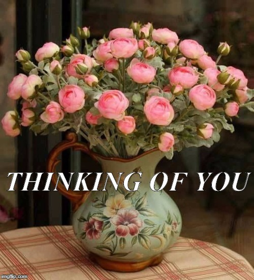 THINKING OF YOU | image tagged in roses | made w/ Imgflip meme maker