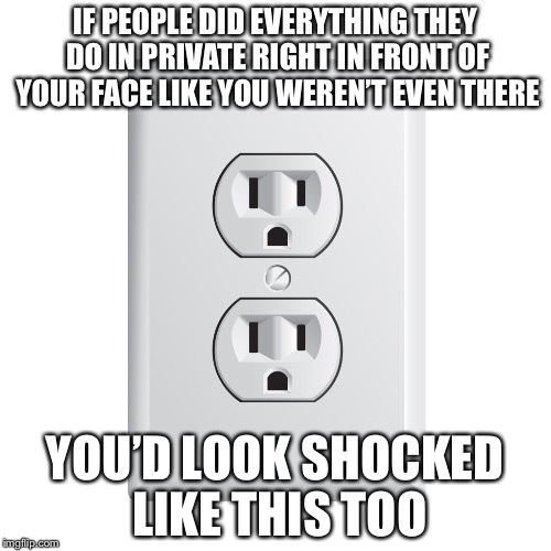 Some Things Can't be Unseen  | IF PEOPLE DID EVERYTHING THEY DO IN PRIVATE RIGHT IN FRONT OF YOUR FACE LIKE YOU WEREN'T EVEN THERE YOU'D LOOK SHOCKED LIKE THIS TOO | image tagged in memes,funny,bad pun,bad puns | made w/ Imgflip meme maker