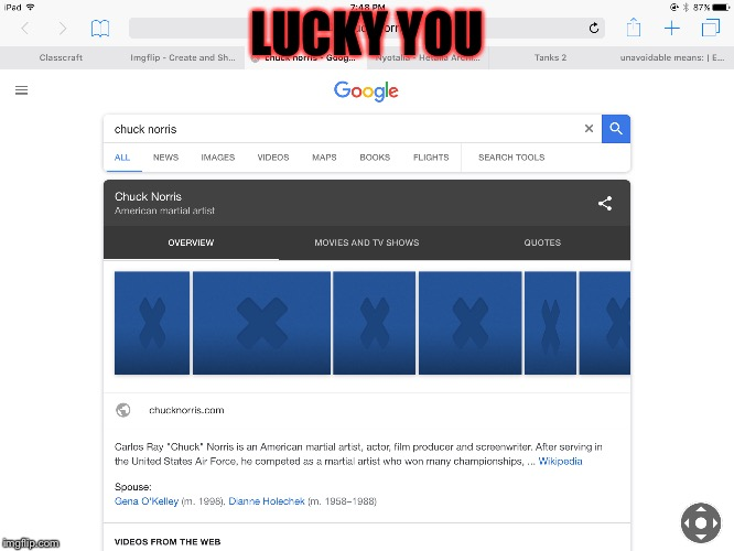 LUCKY YOU | made w/ Imgflip meme maker