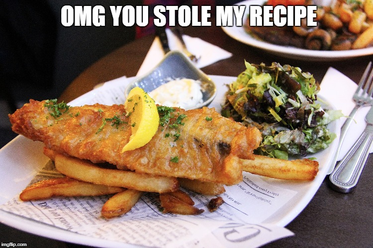 OMG YOU STOLE MY RECIPE | made w/ Imgflip meme maker