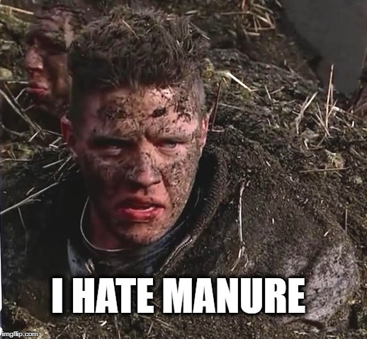 Yep, he still hates manure... | I HATE MANURE | image tagged in back to the future,manure,poop,incontinence,inconceivable | made w/ Imgflip meme maker