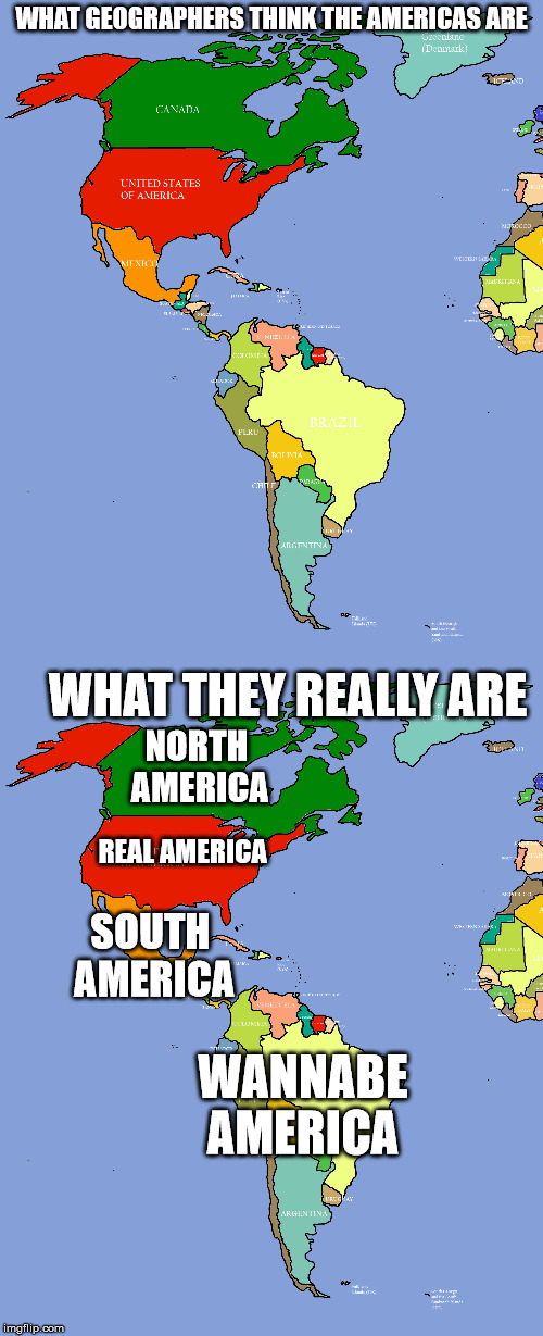 Image for America And Canada Map Meme