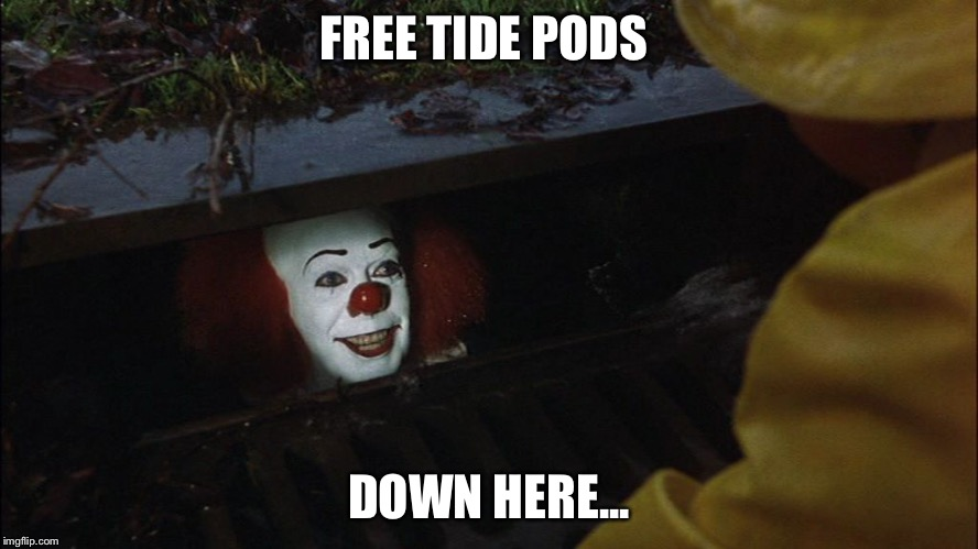 FREE TIDE PODS DOWN HERE... | image tagged in buy at the top | made w/ Imgflip meme maker