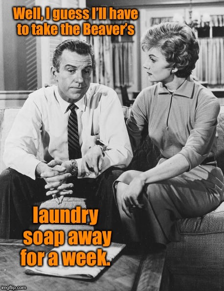 Tide Pod grounding - for the Eddie Haskell in each of us.  And now you know why Pig Pen was so dirty in Peanuts. | . | image tagged in memes,leave it to beaver,ward,laundry soap,grounding,tide pods | made w/ Imgflip meme maker