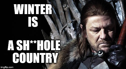 WINTER IS A SH**HOLE COUNTRY | image tagged in winter | made w/ Imgflip meme maker