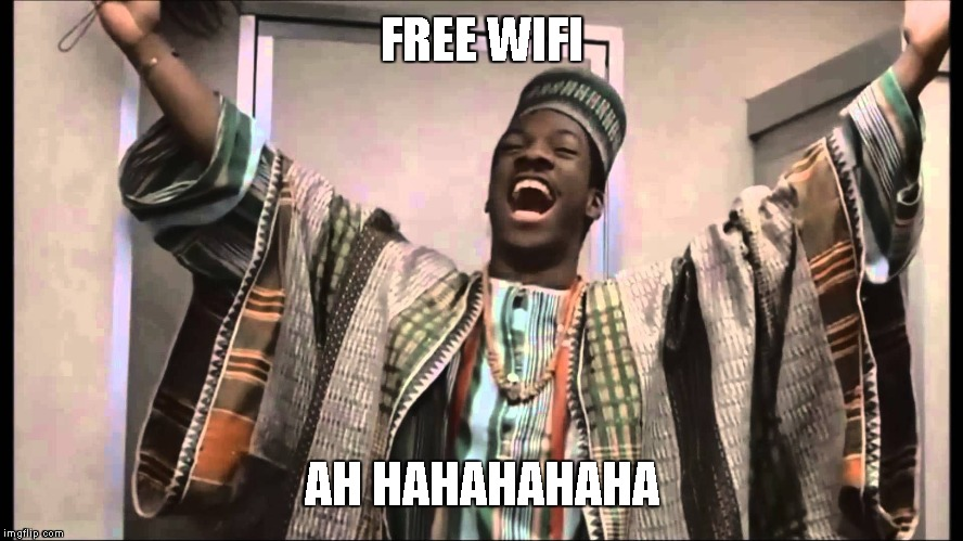FREE WIFI AH HAHAHAHAHA | image tagged in gong gong | made w/ Imgflip meme maker