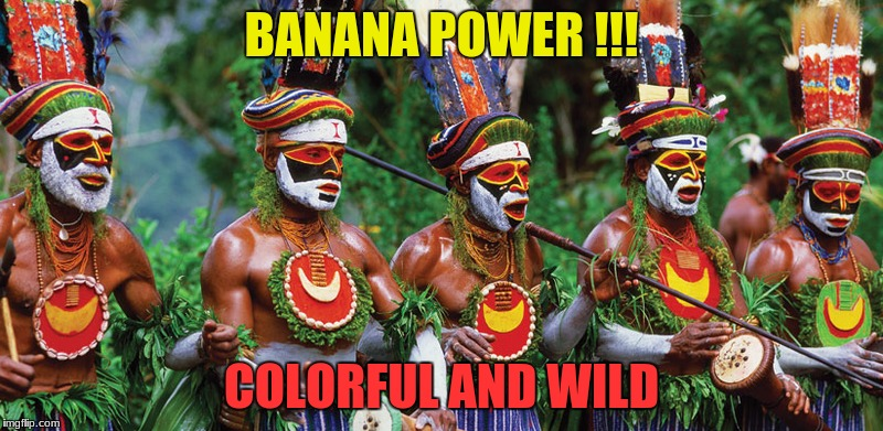 Banana Liberation Front | BANANA POWER !!! COLORFUL AND WILD | image tagged in banana | made w/ Imgflip meme maker